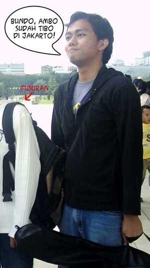 Bngky tiba di Jakarta