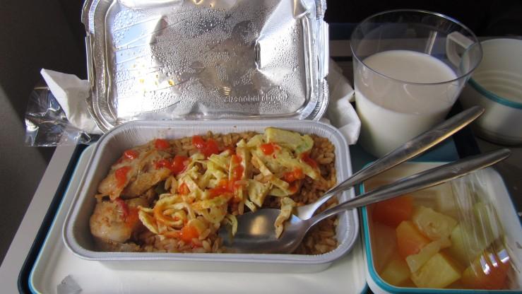 Menu sarapan pagi di pesawat