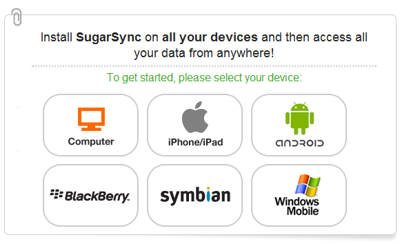 SugarSync Devices