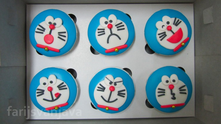 Koleksi Cupcake Doraemon Edisi Ekspresi Wajah 1