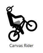 Canvas Rider icon on Google Chrome