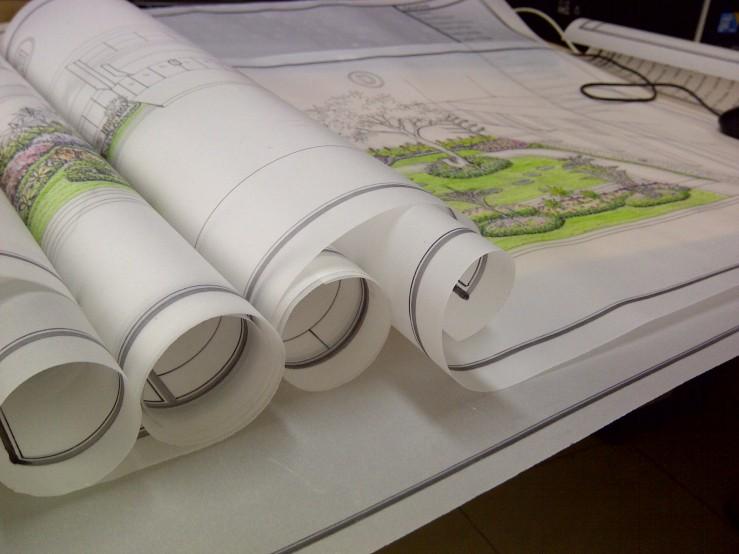 Di Meja Kerja: Gambar Taman