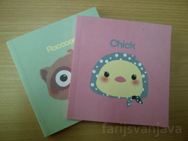 Buku Tulis Lucu 'Chick' dan 'Racoon' 122 x 128 mm