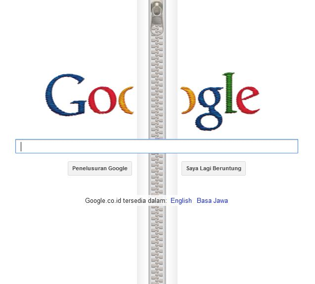 Google Doodle: Zipper