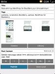 WordPress for BlackBerry - Quick Photo