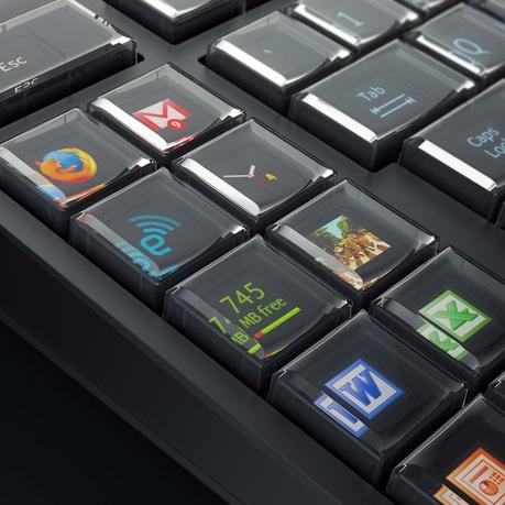 Tombol tambahan pada Optimus Maximus keyboard