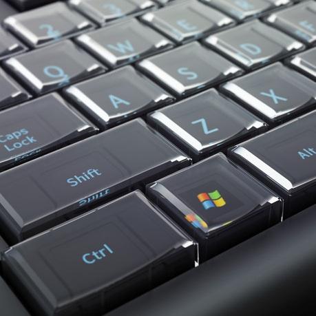 Tombol pada Optimus Maximus keyboard