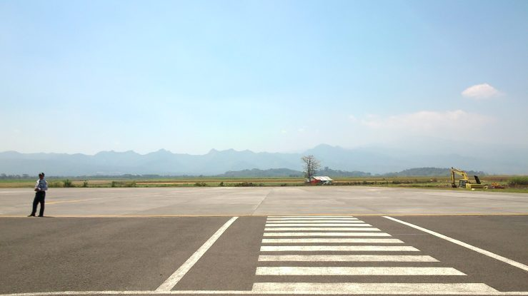 Pemandangan dari Bandara Abdul Rachman Saleh Malang