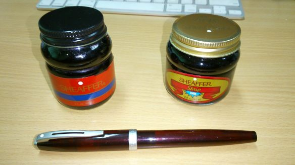 Pulpen Sheaffer dan Botol Tinta Sheaffer Skrip