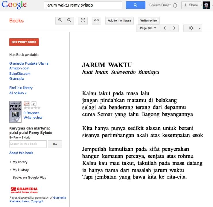 Kerygma dan Martyria: Puisi-puisi Remy Sylado - Remy Sylado - Google Books