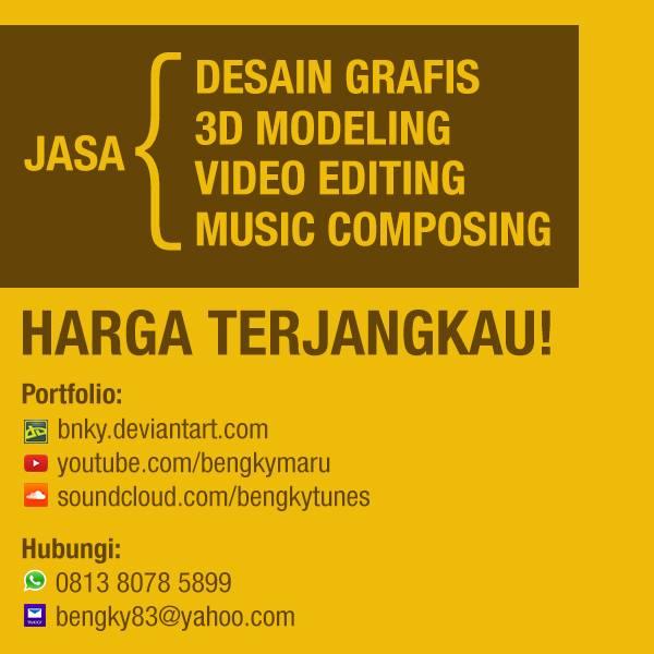 jasa desain grafis, 3d modeling, video editing, music composing dengan harga terjangkau
